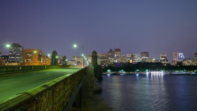 Boston at night video