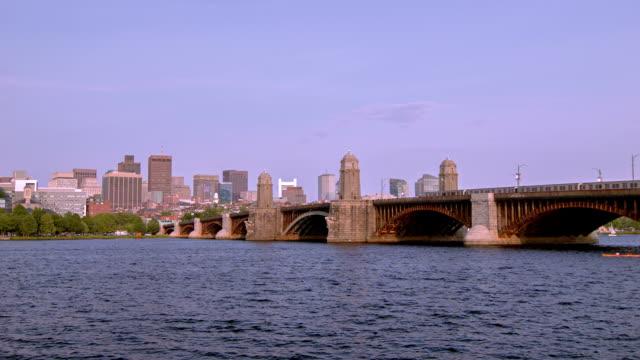 Boston bridge and river video