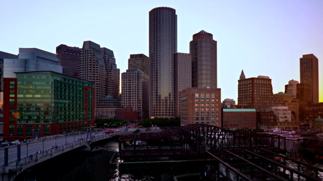 Boston bridges and business downtown video