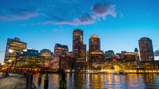 Boston Harbor and Financial District video