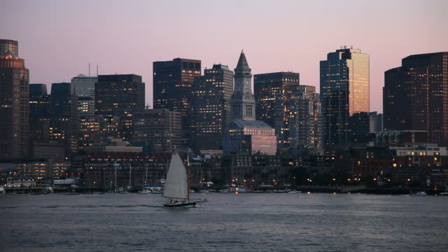Boston Harbor and Skyline video