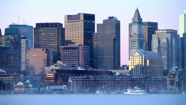 Boston Harbor Arctic Sea Smoke video