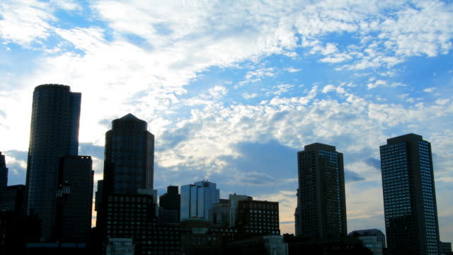 Boston Harbor Skyline Time Lapse HD 1080p24fps video