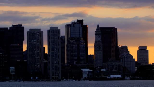 Boston, MA at sunset video