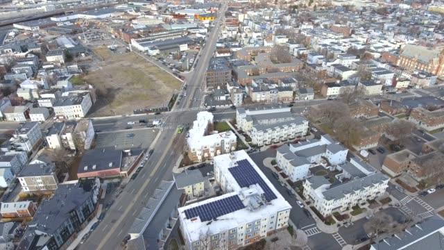 boston massachusetts skyline aerial from south boston 3 - sud est video stock e b–roll