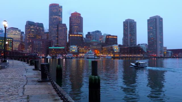 Boston skyline along the Harborwalk video