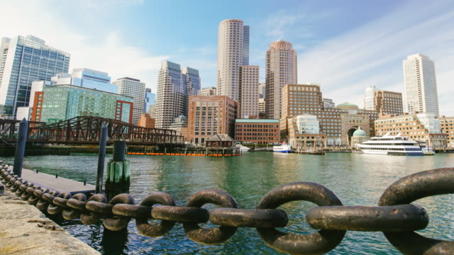 Boston Skyline with Financial District video