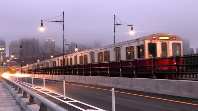 boston subway train - massachusetts bildbanksvideor och videomaterial från bakom kulisserna