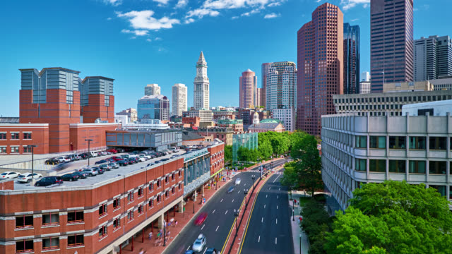 Boston typical cityscape video