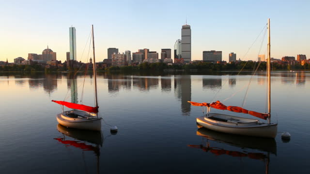 Boston's Back Bay along the Charles River video
