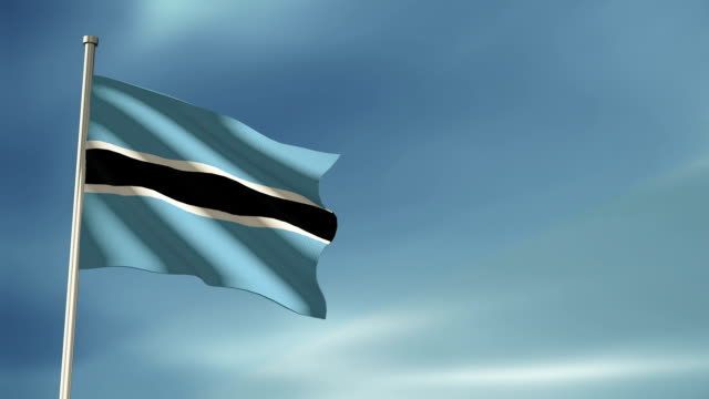 Botswana Flag Stock Videos and Royalty-Free Footage - iStock