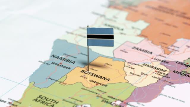 Botswana with National Flag tracking to botswana stock videos & royalty-free footage