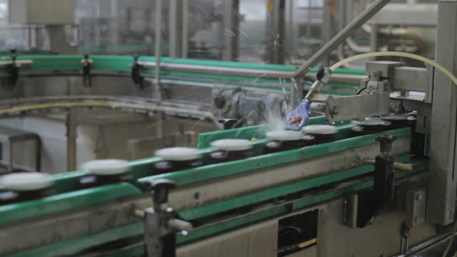 Bottles in a factory video