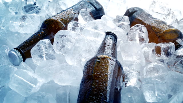 Bottles Of Beer Packed In Ice video