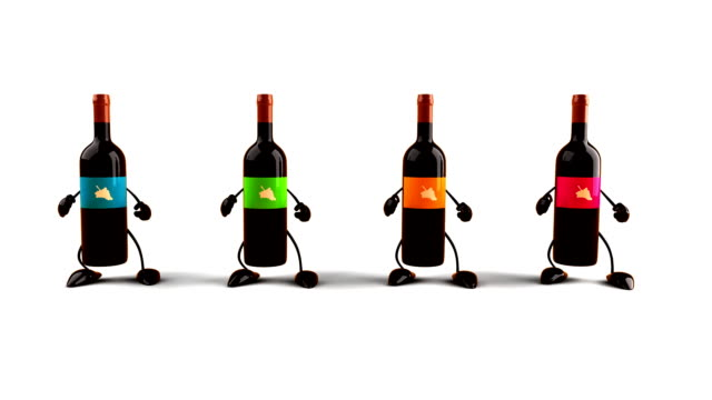 Bottles of wine dancing​ video
