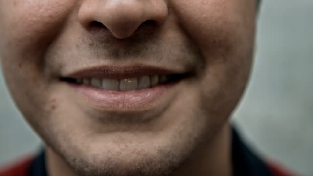 Bottom Half of a Man's Face, Smiling video
