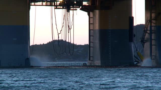 Bottom Of Oil Rig video