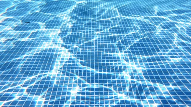 Bидео Bottom of the swimming pool.