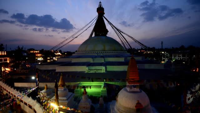 Boudhanath Stupa in the Kathmandu valley, Nepal video