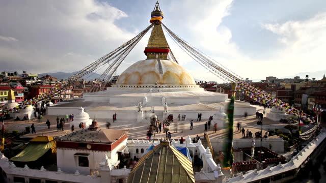 Boudhanath Stupa timelapse, Kathmandu video