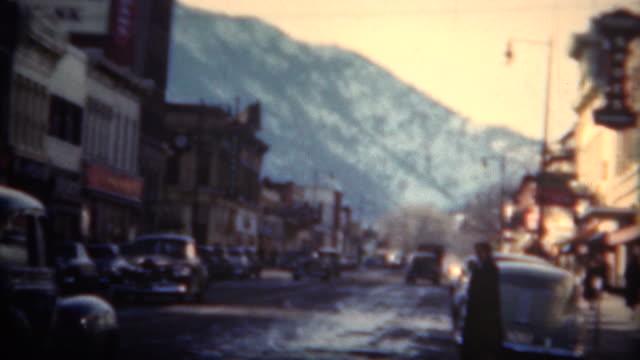 (8mm Film) Boulder Colorado Downtown 1949 video
