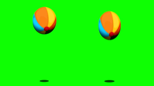 Bouncing ball on green screen video