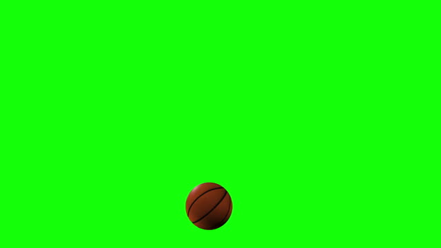 Bouncing Basketball Looped Alpha Footage included Stock Video