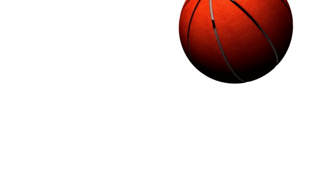 Bouncing BasketBall On White Background video