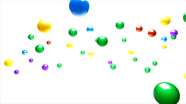 Saltando colorfull pelotas - vídeo
