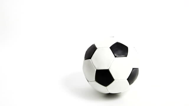 Bouncing Football -Soccer. Isolated on white. video