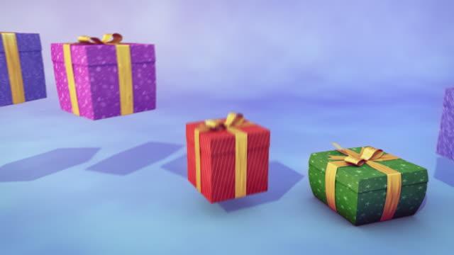 Bouncing gifts - loop video