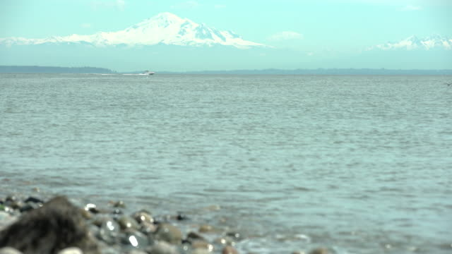 Boundary Bay, Mount Baker, Washington State. 4K UHD video