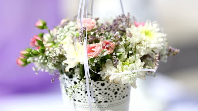 Bouquet of flowers video