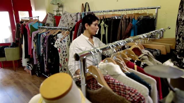 Boutique fashion shop owner video