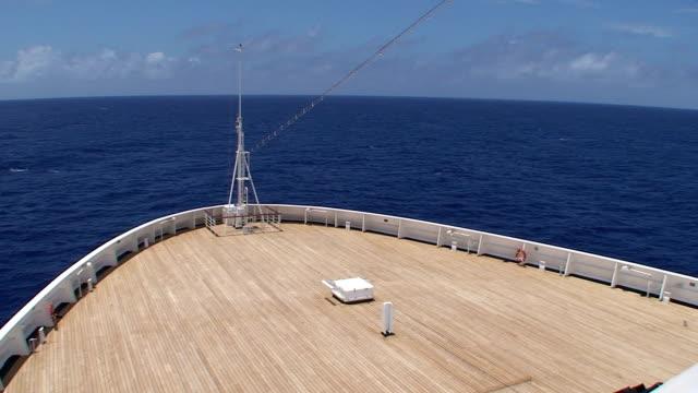 Bow from Port Side: Open Ocean video