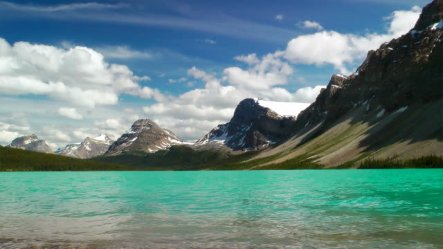 Bow Lake and Crowfoot Mountain video