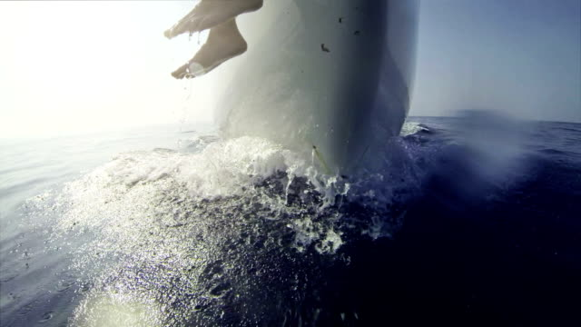 Bow view on cruise of a Sailing Boat video