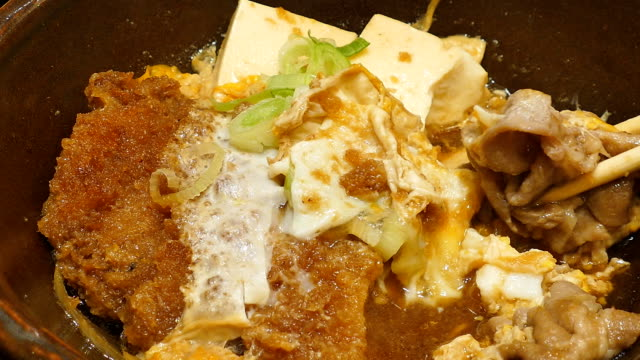 Bowl of pork rice, Japanese Food video