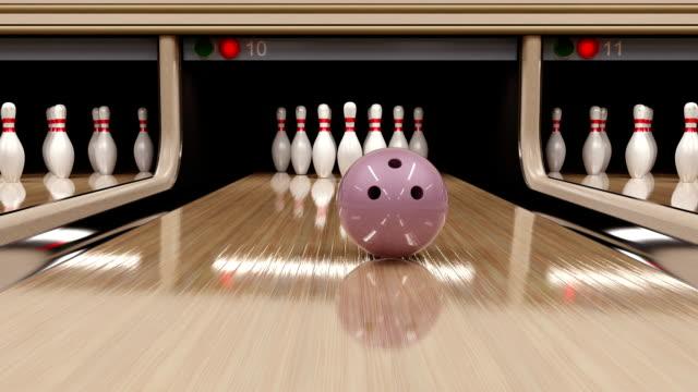 Bowling strike. 3D render.