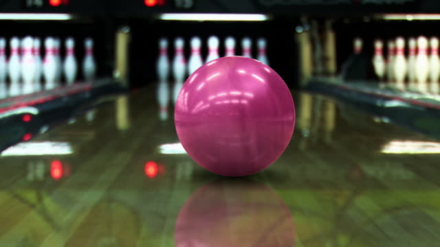 Bowling strike (dolly shot) - HD, PAL video