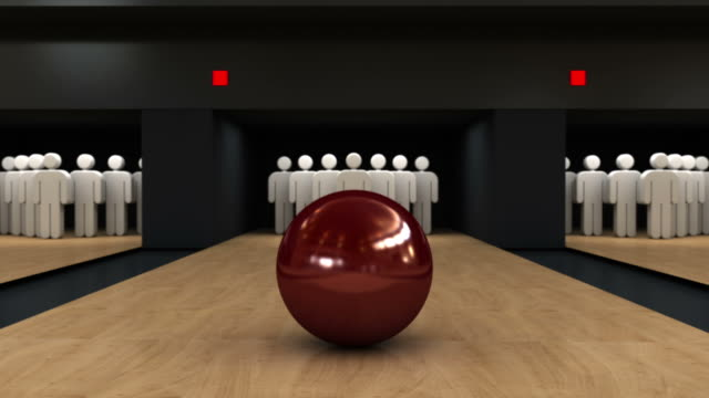 Bowling strike video