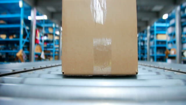 Box on a Conveyor Belt video