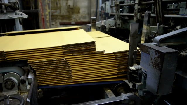 Box production in the factory video