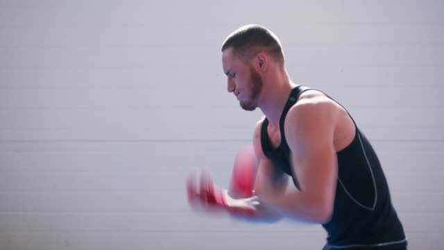 boxer training speed punches video