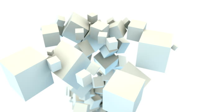 Boxes filling screen. Abstract background video