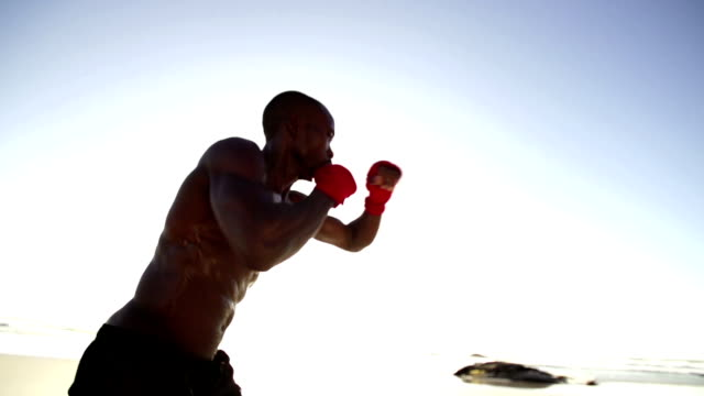 Boxing at the beach video
