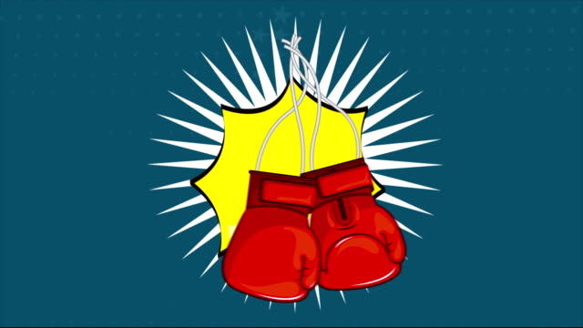 Boxing cartoon, Video animation video