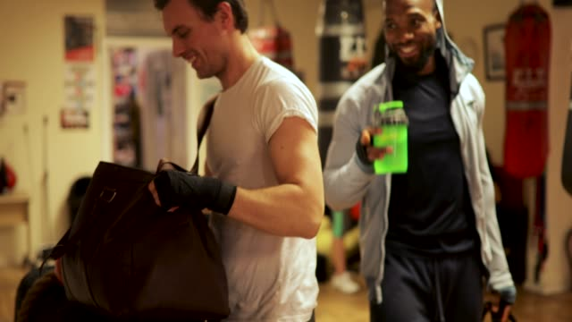 Boxing Friends at Gym video
