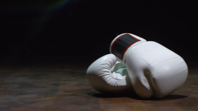 Boxing Gloves on Black Background video