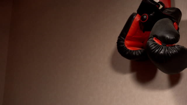 Boxing gloves on the wall video
